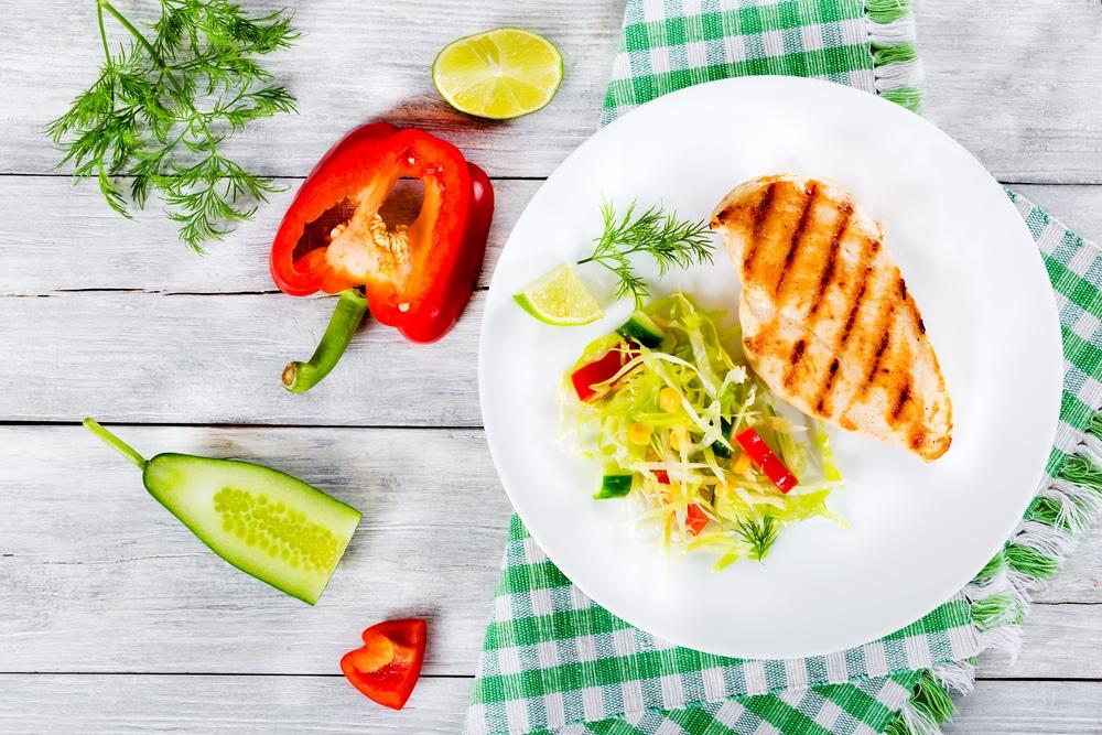 Dieta na masę – kurczak i warzywa